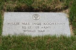 Willie Mae <i>Inge</i> Koorenny