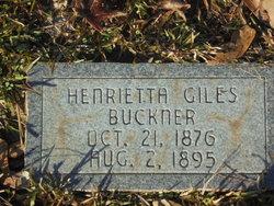 Henrietta B <i>Giles</i> Buckner