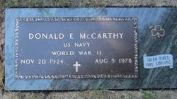 Donald E McCarthy