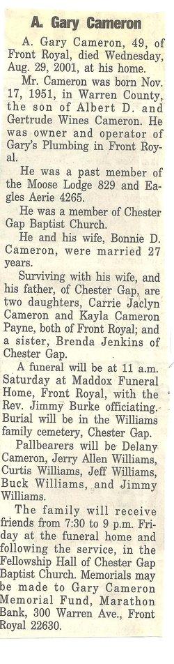 A. Gary Cameron