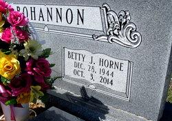 Betty J <i>Horne</i> Bohannon