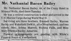 Nathaniel Bacon Nathan Bailey