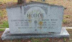 Sophie Caroline <i>Wiese</i> Hodde