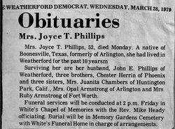 Joyce T Phillips
