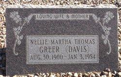 Nellie Martha <i>Thomas Davis</i> Greer