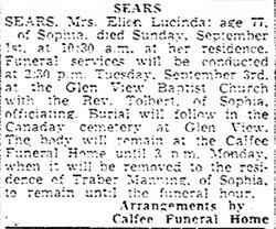 Lucinda Ellen <i>Bragg</i> Sears