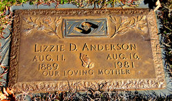 Elizabeth Lizzie <i>Dowell</i> Anderson