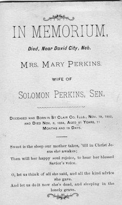 Mary Polly <i>Ogle</i> Perkins