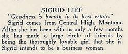 Sigrid I <i>Lief</i> Allenson