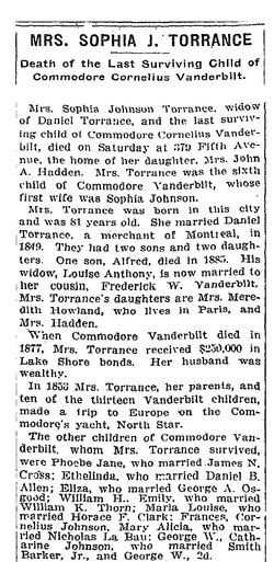 Sophia Johnson <i>Vanderbilt</i> Torrance