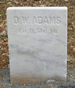 Pvt D. W. Adams