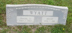Francis Thomas Frank / Franklin Wyatt