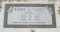 Annie Jane <i>Veal</i> Saxon