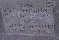 F Lucille <i>Burroughs</i> Armstrong