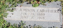 Cora <i>Jemison</i> Carothers