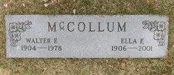 Walter F McCollum