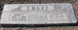 Sarah Margaret <i>Wooten</i> Sharp