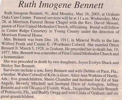 Ruth Imogene Bennett