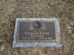 Caroline Bowdler