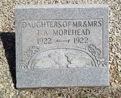 infant daughters of Morehead