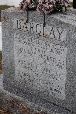 Eliza May <i>Beckstead</i> Barclay
