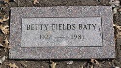 Betty <i>Fields</i> Baty