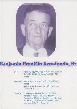 Benjamin Franklin Arradondo, Sr