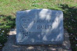 Birdie Erma Bailey