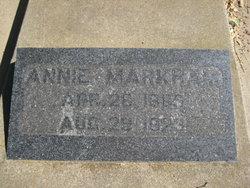 Annie Susan <i>Burrows</i> Markham
