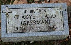 Gladys L <i>Akerman</i> Aho