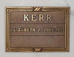 Elizabeth Josephine <i>Banks</i> Kerr