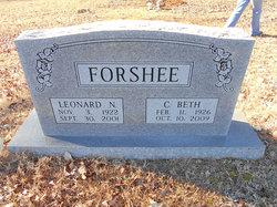 Cynthia Elizabeth Beth <i>Weddle</i> Forshee