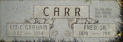 Effie Belle <i>Graham</i> Carr