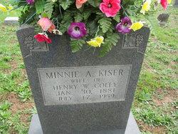 Minnie Alice <i>Kiser</i> Coley