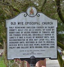 Old Wye Episcopal Church Cemetery