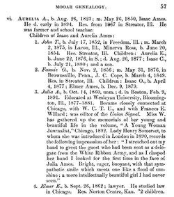 Aurelia Ann <i>Mooar</i> Ames