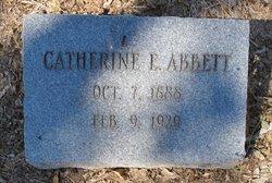 Catherine E. Katie <i>Weist</i> Abbett