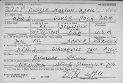 Doss Houston Dossie Apple